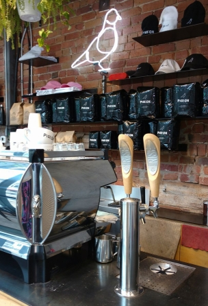 Rise Kombucha on tap at Pigeon Espresso Bar